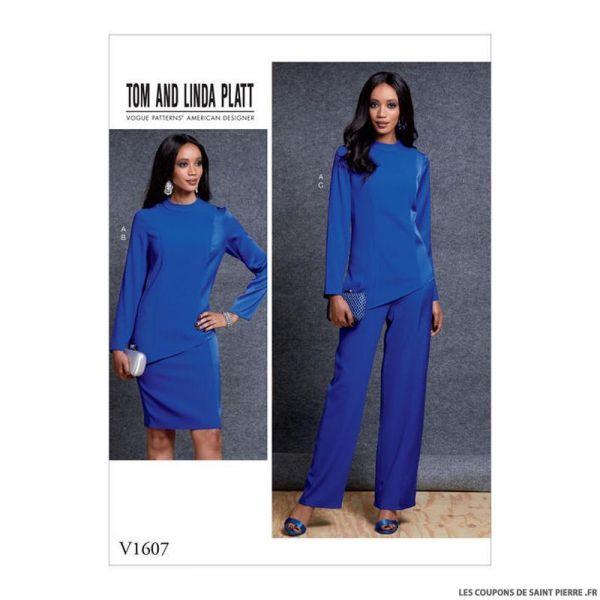 Patron Vogue V1607 : Haut, jupe et pantalon