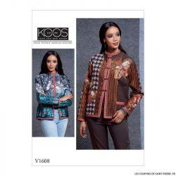 Patron Vogue V1608 : Veste résersible