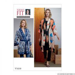Patron Vogue V1610 : Kimono et ceinture