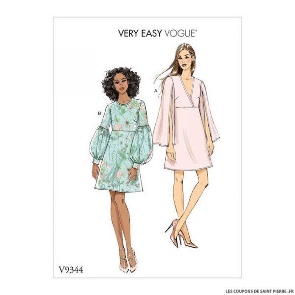 Patron Vogue V9344 : Robe