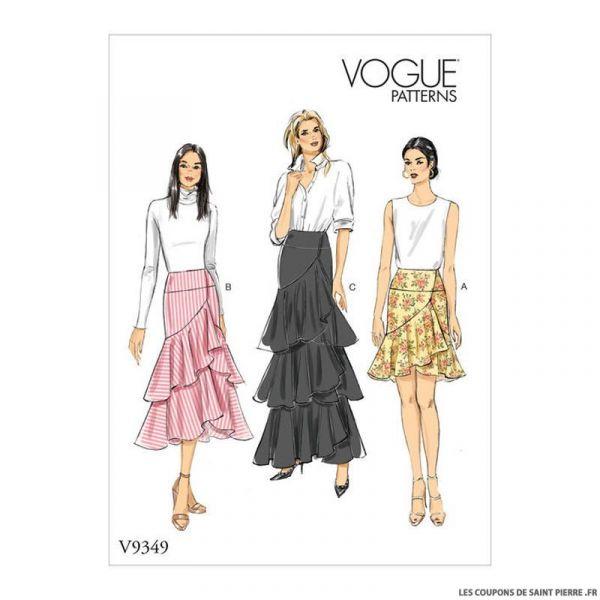 Patron Vogue V9349 : Jupe à volants