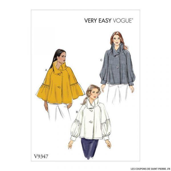 Patron Vogue V9347 : Haut trapèze
