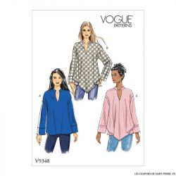 Patron Vogue V9348 : Haut ample