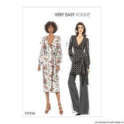 Patron Vogue V9350 : Haut, robe et pantalon
