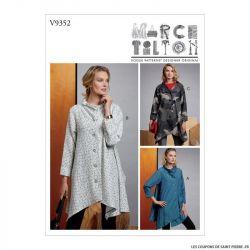 Patron Vogue V9352 : Manteau évasé