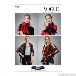 Patron Vogue V9354 : Echarpe, boleros et kimono
