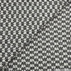Tweed de laine motif fantaisie noir et blanc