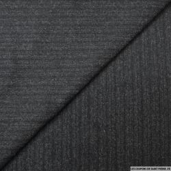 Lainage tailleur anthracite rayures chiné