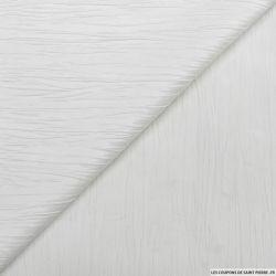 Taffetas polyester froissé blanc cassé