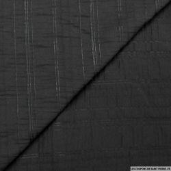 Polycoton noir rayures ton sur ton