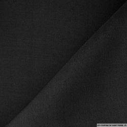 Sergé de laine et soie noir