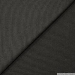 Laine et soie ottoman noir