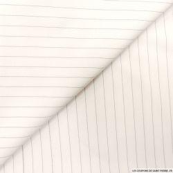 Crêpe polyester blanc pointillés