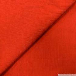 Crêpe polyester plissé rouge