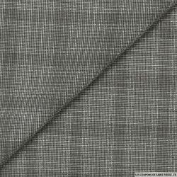 Polyviscose carreaux gris