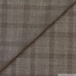 Polyviscose carreaux taupe