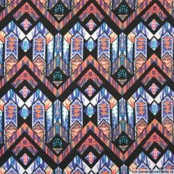 Jersey polyester imprimé navajo violet