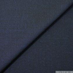 Tweed de laine mélangée bleu