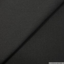 Gabardine de laine fluide noire