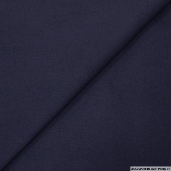 Gabardine de coton élasthane marine