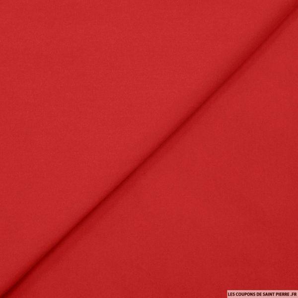 Gabardine de coton élasthane rouge