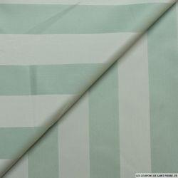 Taffetas polyester rayé vert amande