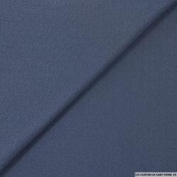 Crêpe polyviscose bleu orageux
