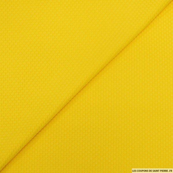 Jersey nid d'abeille jaune