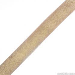 Elastique lurex nude or - 40mm au mètre