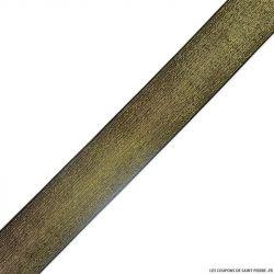 Elastique lurex noir or - 40mm au mètre