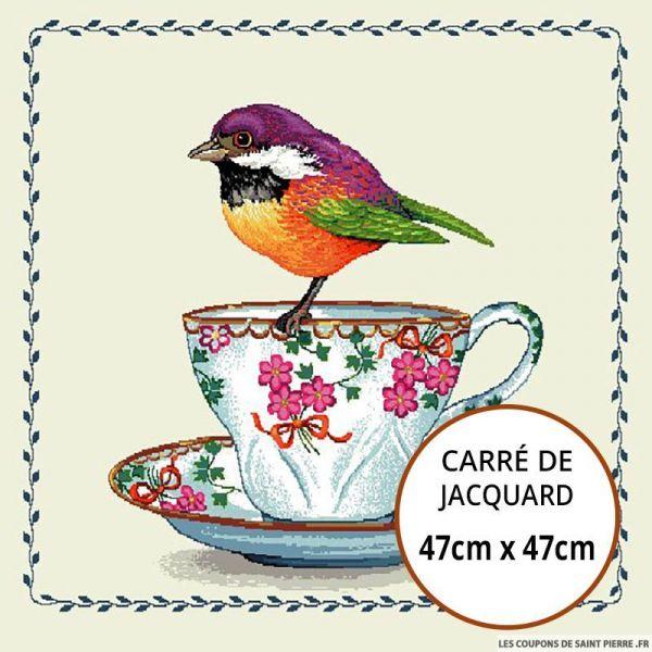 Jacquard tasse - 47cm x 47cm