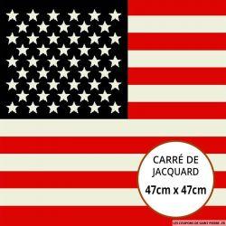 Jacquard drapeau américain - 47cm x 47cm