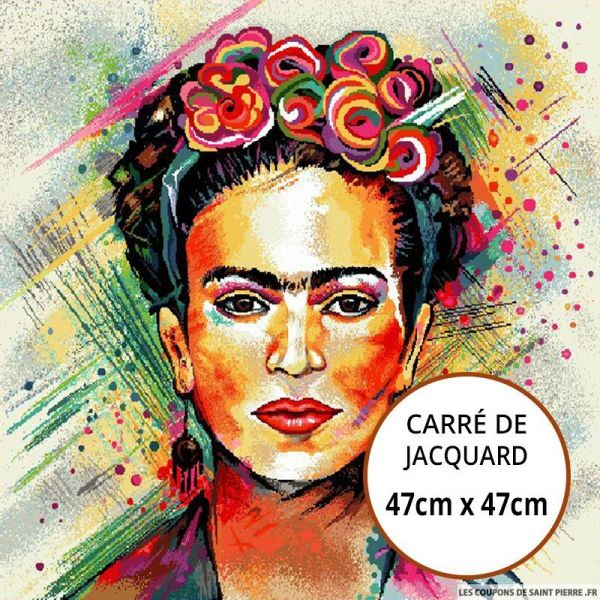 Jacquard Frida Kahlo - 47cm x 47cm