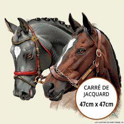 Jacquard chevaux - 47cm x 47cm