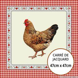 Jacquard poule - 47cm x 47cm