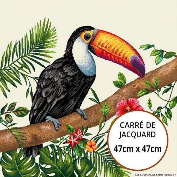 Jacquard toucan - 47cm x 47cm