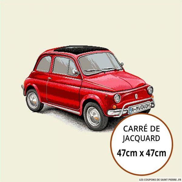 Jacquard petite voiture - 47cm x 47cm