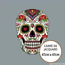 Jacquard tête de mort - 47cm x 47cm