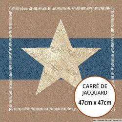 Jacquard étoile - 47cm x 47cm