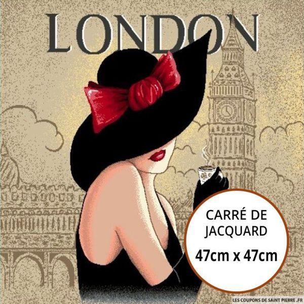 Jacquard Femme London - 47cm x 47cm