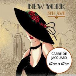 Jacquard Femme New York - 47cm x 47cm
