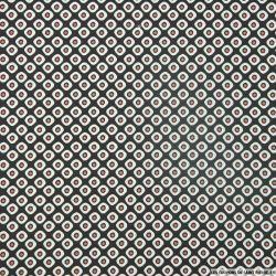 Coton imprimé petites bulles fond noir