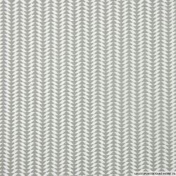 Coton imprimé scandinave gris clair