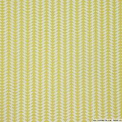 Coton imprimé scandinave vert pomme