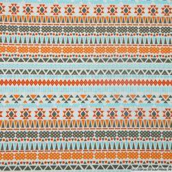 Coton imprimé frises navajo