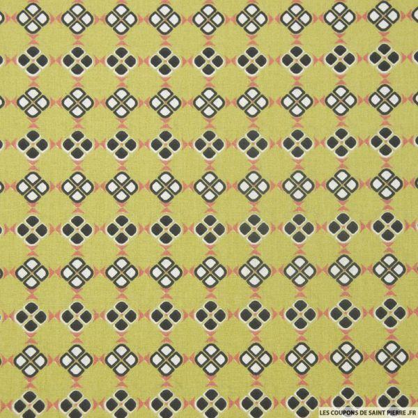 Coton imprimé petits carrés africain