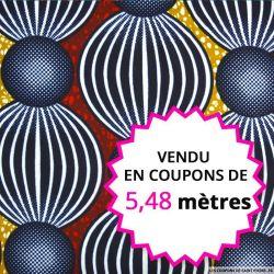 Wax africain cirque, vendu en coupon de 5,48 mètres