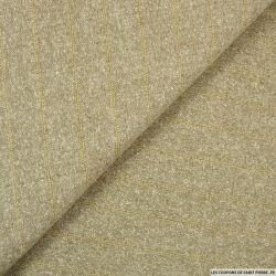 Bourrette de soie ficelle rayé