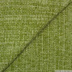 Bourrette de soie vert et écru