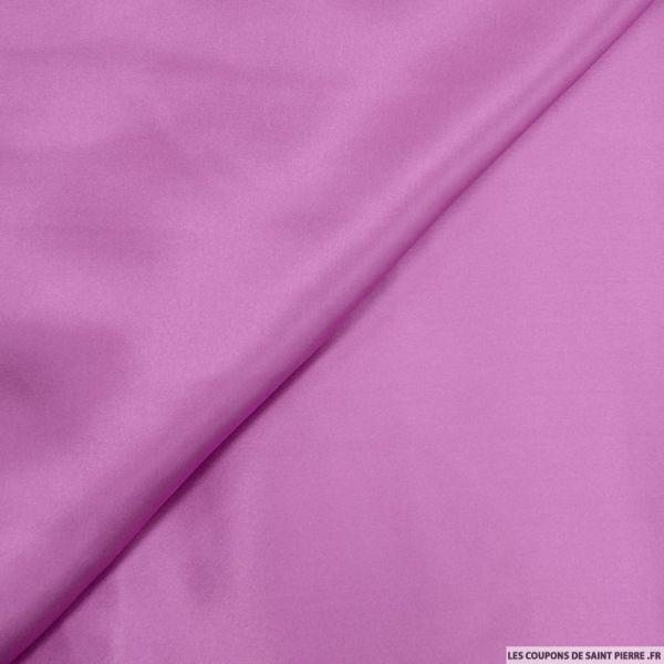 Satin de Soie uni violet